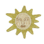 Iron On Patch Applique - Gold Sun