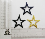 "Iron On Patch Applique - Open Star 1 7/8"" (47.62mm) *Colors*"