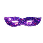 Iron On Patch Applique - Sequin Mardi Gras Mask Purple