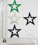 "Iron On Patch Applique - Open Star 2 3/4"" (69.85mm) *Colors*"