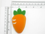 Carrot Iron On Patch Applique - Puffy 3D