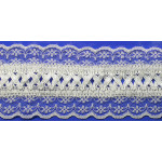 "Fancy Lace with Ribbon 2 1/2"" White Per Yard"