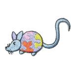 Iron On Patch Applique - Blue Mouse Left