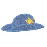 Iron On Patch Applique - Sunhat with Flower