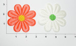 Iron On Patch Applique - Sateen Daisy *Colors* 3""