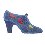 Iron On Patch Applique - Denim High Heel