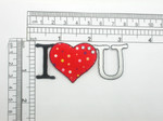 I Heart You Love You Patch Iron On Embroidered Applique