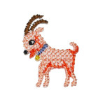 Iron On Patch Applique - Cross Stitch Goat