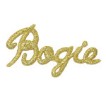 Iron On Patch Applique - Golf Word 'BOGIE'