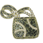 Iron On Patch Applique - Faux Snakeskin Handbag
