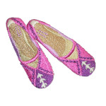 Iron On Patch Applique - Pink Slippers