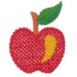 Iron On Patch Applique - Cross Stitch Apple