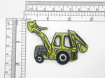 Backhoe Digger Patch Iron On Embroidered Applique