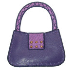 Iron On Patch Applique - Purple Handbag