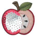 Iron On Patch Applique - Sequin Apple