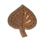Iron On Patch Applique - Leaf Vinyl.a