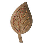 Iron On Patch Applique - Leaf Vinyl BRONZE