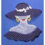Iron On Patch Applique - Giant Polka Dot Fashion Bust