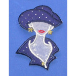 Iron On Patch Applique - Polka Dot Fashion Bust
