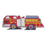 "Fire Truck patch Iron On Embroidered applique 4 1/2"" x 1 1/4"""