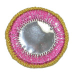 Iron On Patch Applique - Circle Mirror Pink