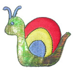 Iron On Patch Applique - Sparkle Snail