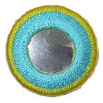 Iron On Patch Applique - Circle Mirror Turquoise