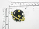 Celestial Planet with stars Iron On Embroidered applique