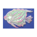 Pastel Sparkle Fish Marine Iron On Patch Applique