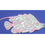Iron On Patch Applique - Pastel Sparkle Fish.