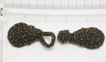 "Frog Closure Brown Chunky 1 3/16"" x 4"" with Glass Bugle Beads."