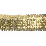 "Sequin Stretch 2 3/8"" wide Gold 2 1/2 Yards"