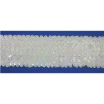 "Sequin Stretch 2 3/8"" wide White Iris Per Yard"