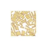 Glass Bugle Beads 4.5mm long Gold 20 Grams