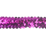 "Sequin Stretch 1 1/4"" wide Fuchsia Per Yard"
