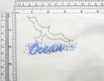 "Nautical Seagull Studded Embroidered Applique Iron On  2 1/4"" x 4"""