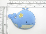 Blue Whale Iron On Patch Applique Puffy 3D