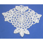 Iron On Venise Lace Applique - Floral Medallion