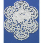 Iron On Venise Lace Applique - Floral Medallion.