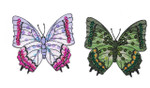 """Butterfly Patch 3"""" Sequin Iron On  Applique Green or Lilac"""