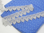 "Venise Lace 1 1/2"" (38mm)  Metallic Silver Hearts"