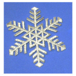 Snowflake Silver Iron On Patch Applique Embroidered