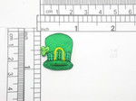 "St Patricks Hat Patch Embroidered iron On Applique 7/8"" x 1"""