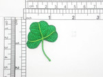 "Shamrock Patch Embroidered Iron On Applique 1 5/8"" high x 1 3/8"""