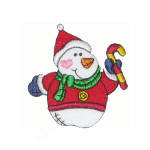 "Snow Man Patch Santa Suit  Applique 4"" (102mm) x 2 1/8"" (54mm)"