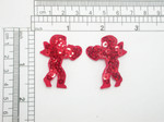 Cherub Cupid Sequin Pair Iron on Appliques