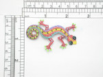 "Gecko Patch multi Iron On Embroidered Applique Measures 2 1/2"" long x approx 1 5/8"" wide overall"