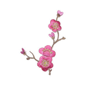Large Cherry Blossom Branch Applique Patch Iron on