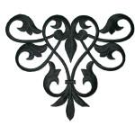 Iron On Patch Applique - Decorative Swirl Black