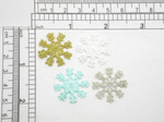 "Snowflake 1"" Iron On Patch Applique - 1"" (25mm)"